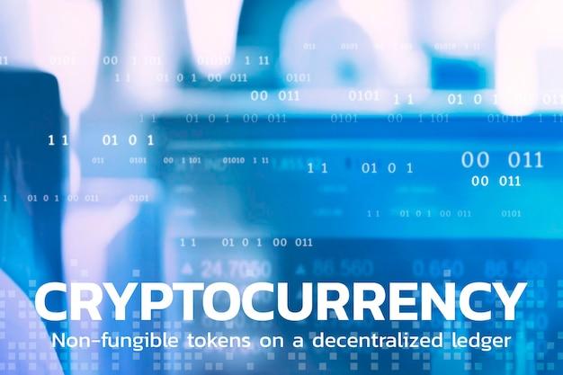 Sfondo della tecnologia finanziaria dei token non fungibili di criptovaluta