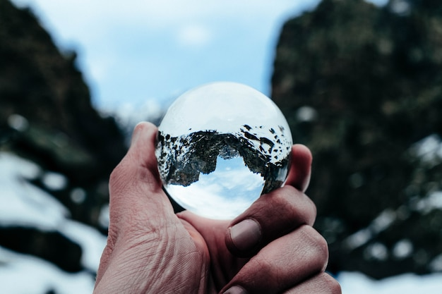 Crystal ball mountain shot