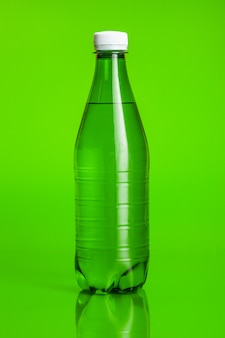 Crystal clear water in a bottle