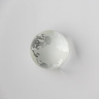Crystal glass earth