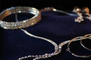 Crystal jewelry, royal
