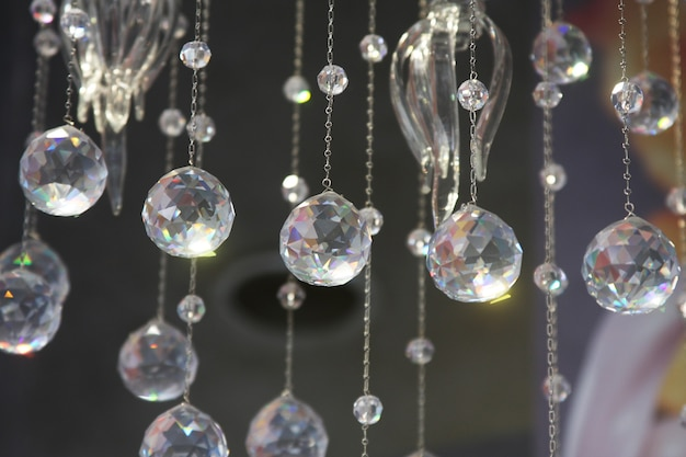 Crystal part from chandelier , art photo