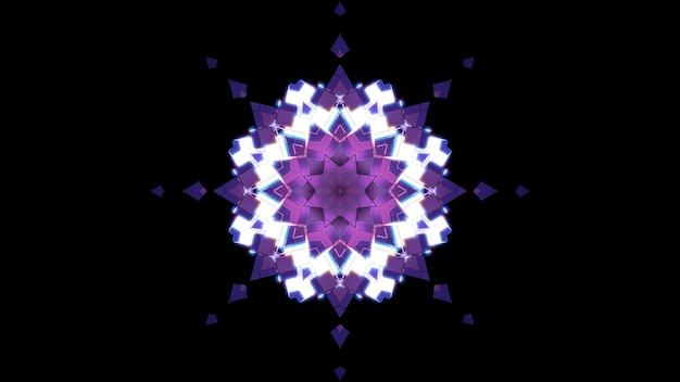 Crystal star ornament 4k uhd 3d illustration