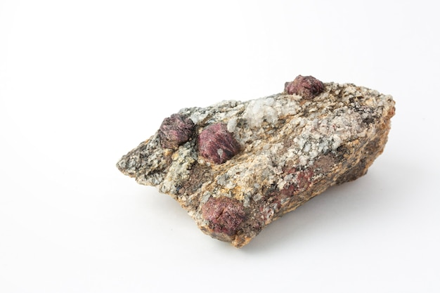 Crystals of pomegranate mineral
