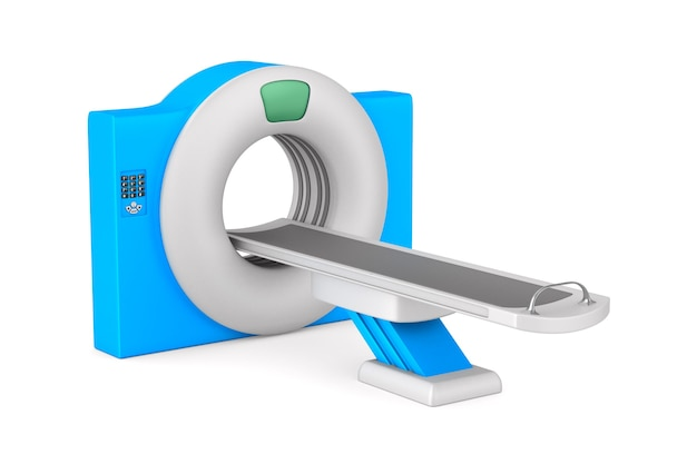 Ct scanner tomography. isolated 3d rendering