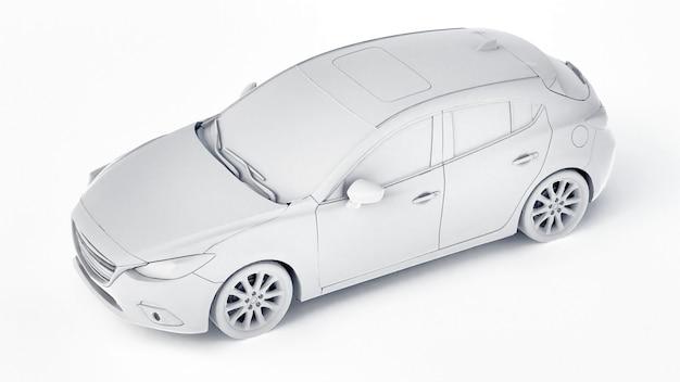 창의적인 디자인을 위한 빈 표면이 있는 cty 자동차. 3d 렌더링.