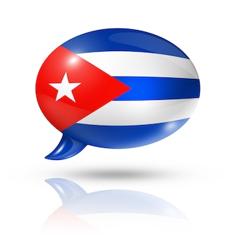 Cuban flag speech bubble