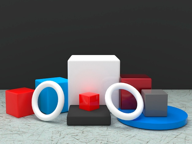 Cube 3d rendering background