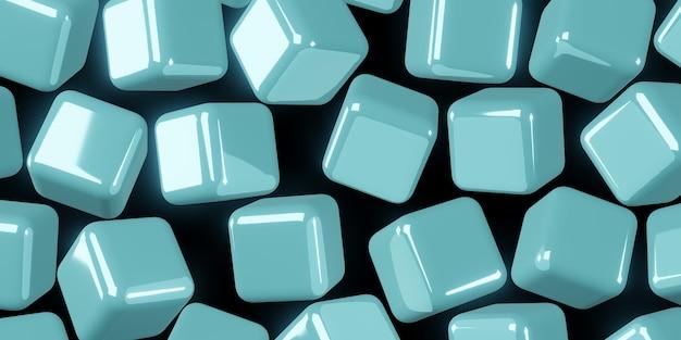 Куб абстрактный фон 3d иллюстрация