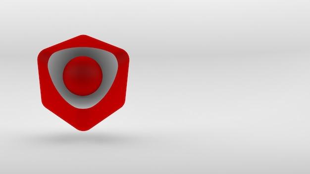 白い背景の上の立方体アイソメトリックロゴの概念。 3dレンダリング。