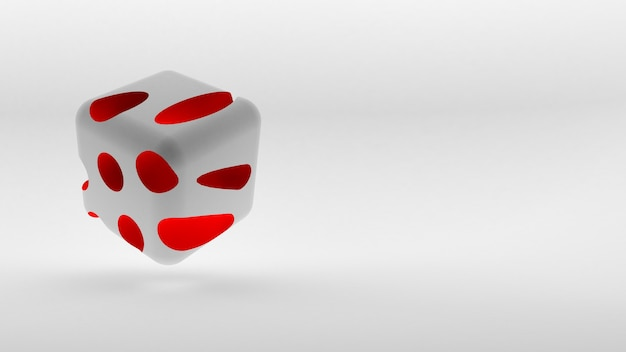 Cube isometric logo concept on white background. 3d rendering.