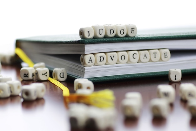 Cube text law and judge