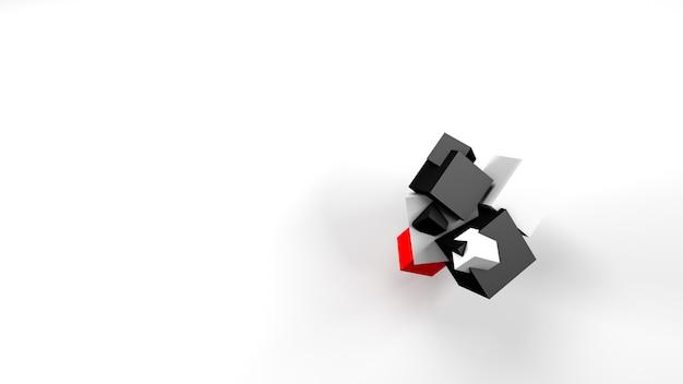 Кубики - абстрактная форма, сгусток - это союз форм