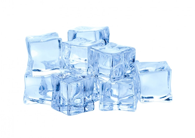 Cubes of ice isolated