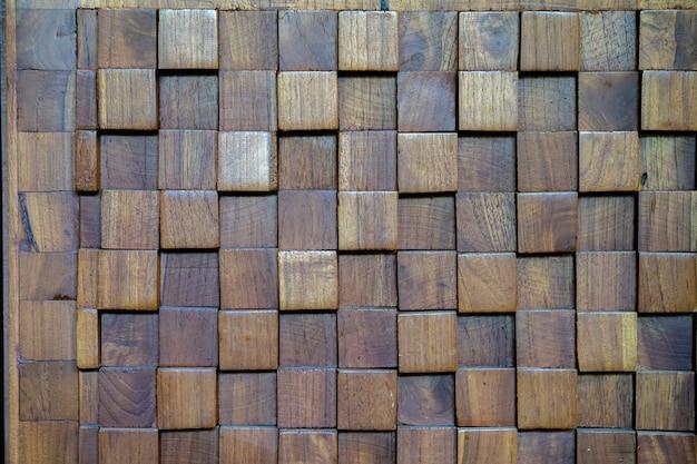 입방 질감 나무 벽, 배경 사용.