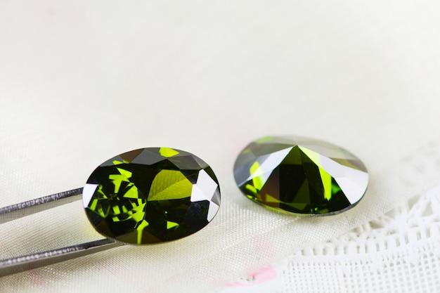 Cubic zirconia gemstones, oval shape, various color gemstones