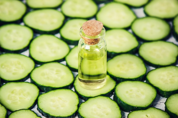 The cucumber extract. cosmetics.