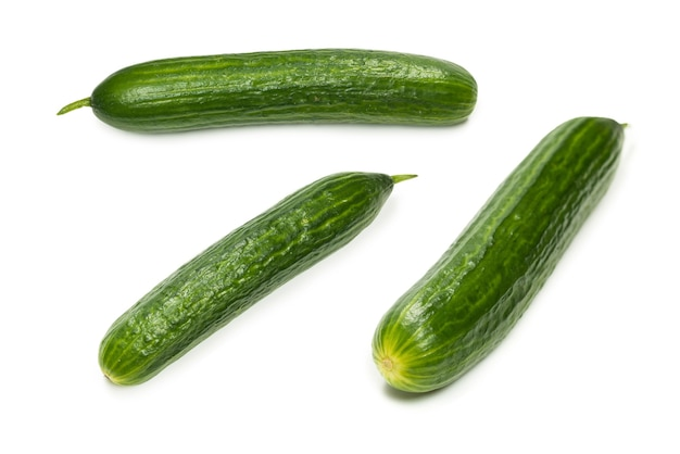 Cucumber isolated on white background.