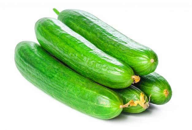 Cucumber isolated on white