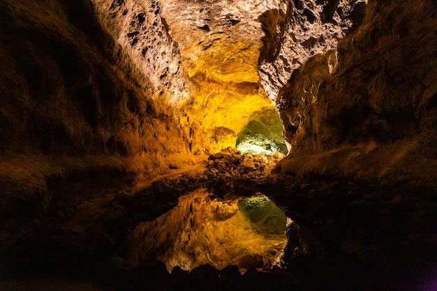 Cueva de los verdes on the island lanzarote