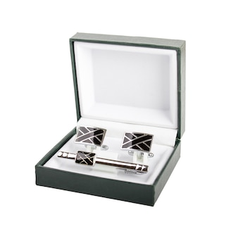 Cuff links in a box