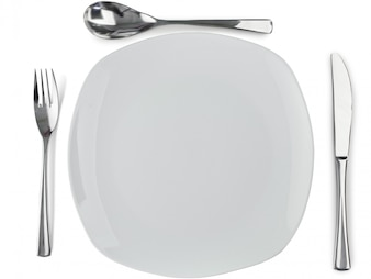Cultery around a plate