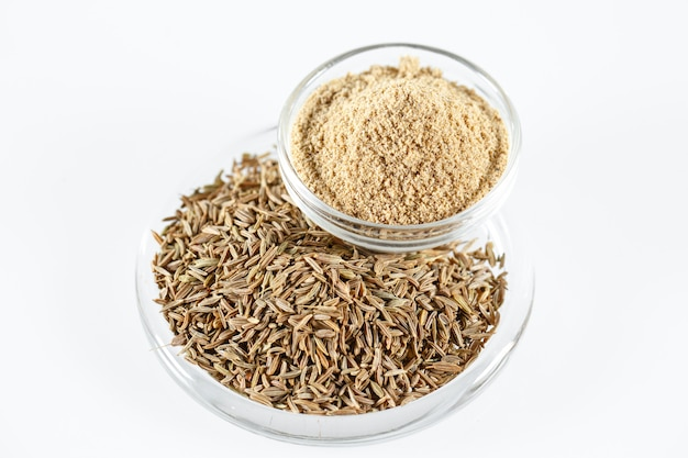 Cumin isolated in white.