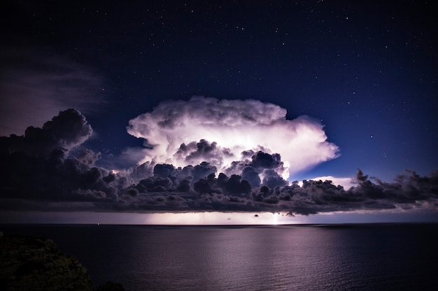 Cumulonimbus cloud during a storm