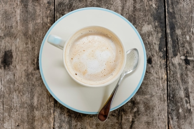 A cup of cafe latte