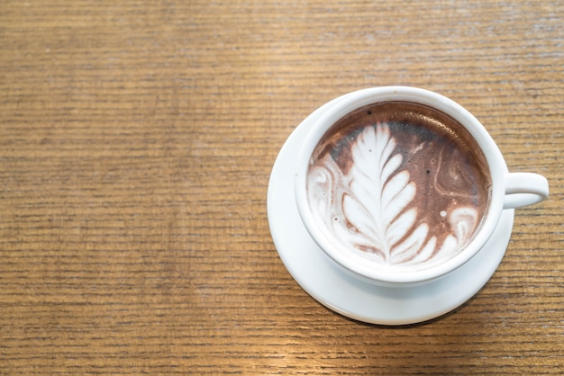 A cup of chocolate latte