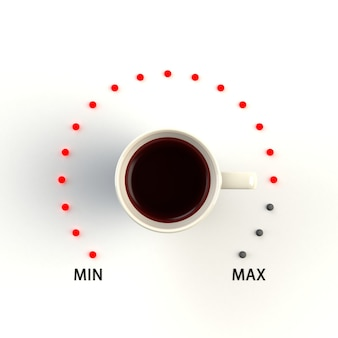 Cup of coffee in the form of volume control