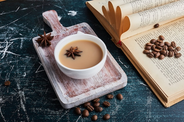 A cup of coffee with anise.