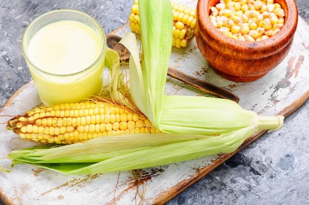 Cup of corn milk
