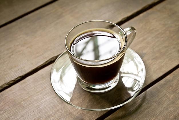 Cup flavor table black wood