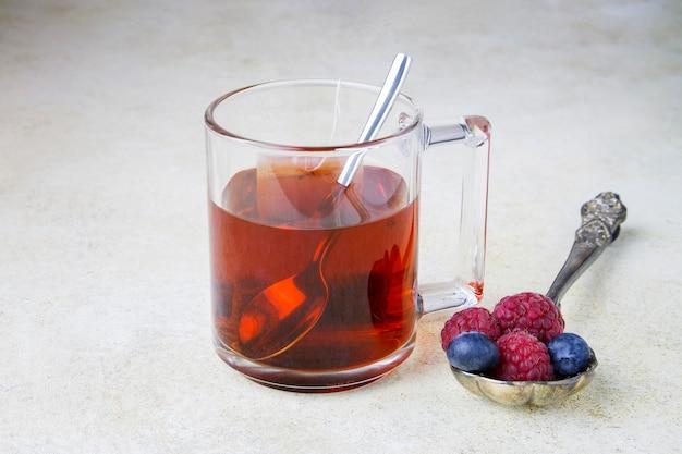 Cup of  hot berry tea