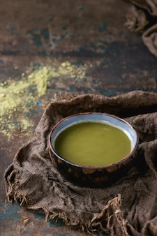 Cup of matcha tea