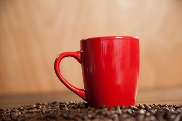コーヒー、コーヒー豆のカップ