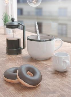 レストランで一杯のコーヒー