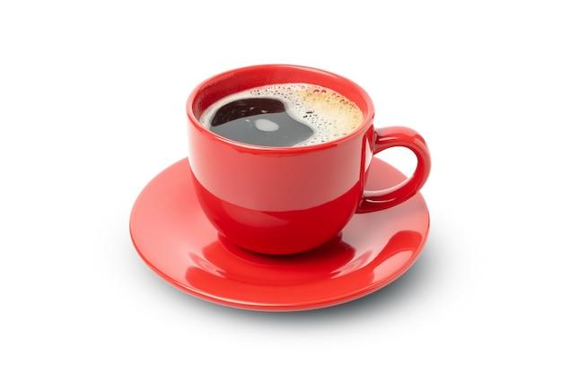 Чашка кофе, изолированные на белом фоне