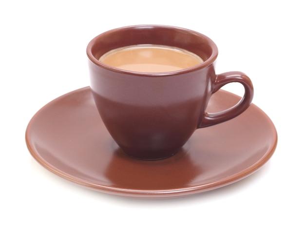 分離された一杯のコーヒー