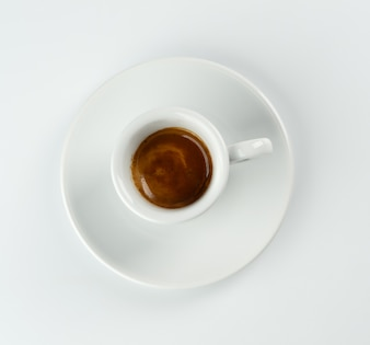 Cup of espresso from above