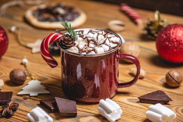 마쉬 멜 로우와 핫 초콜릿 한잔