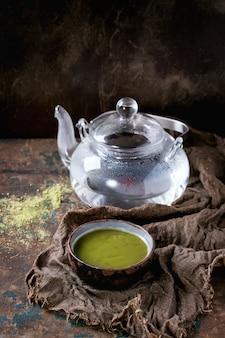 抹茶のカップ
