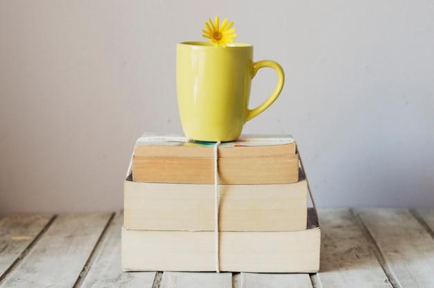 Кубок по стопке книг