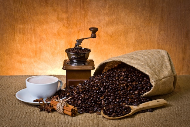 Cup scented espresso latte bag