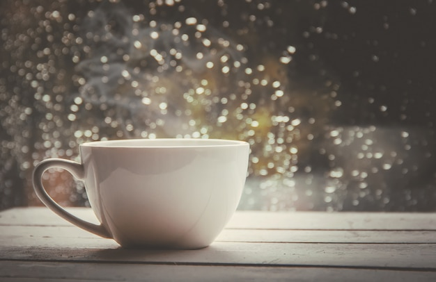 A cup of tea. hello, autumn. selective focus comfort