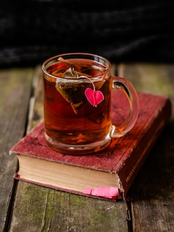 Cup of tea with a heart