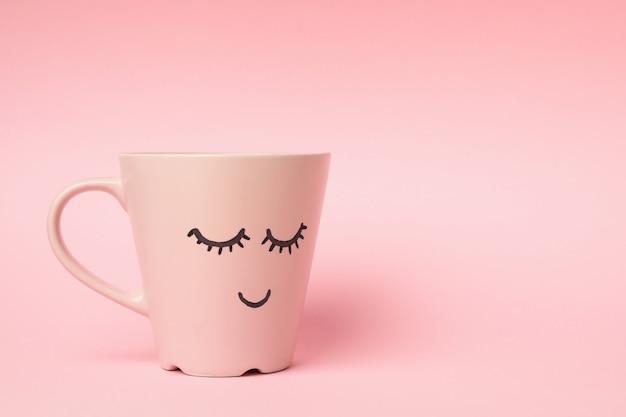 幸せそうな顔のカップ