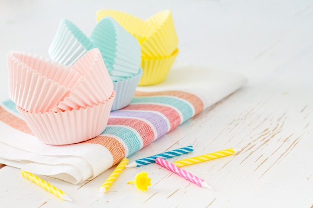 Cupcake decorations with candles