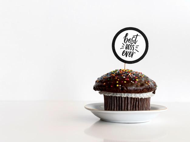 ボスデーイベントのカップケーキ
